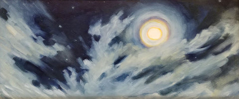 Sky Study 3 - Oil painting by Lupita Carassco