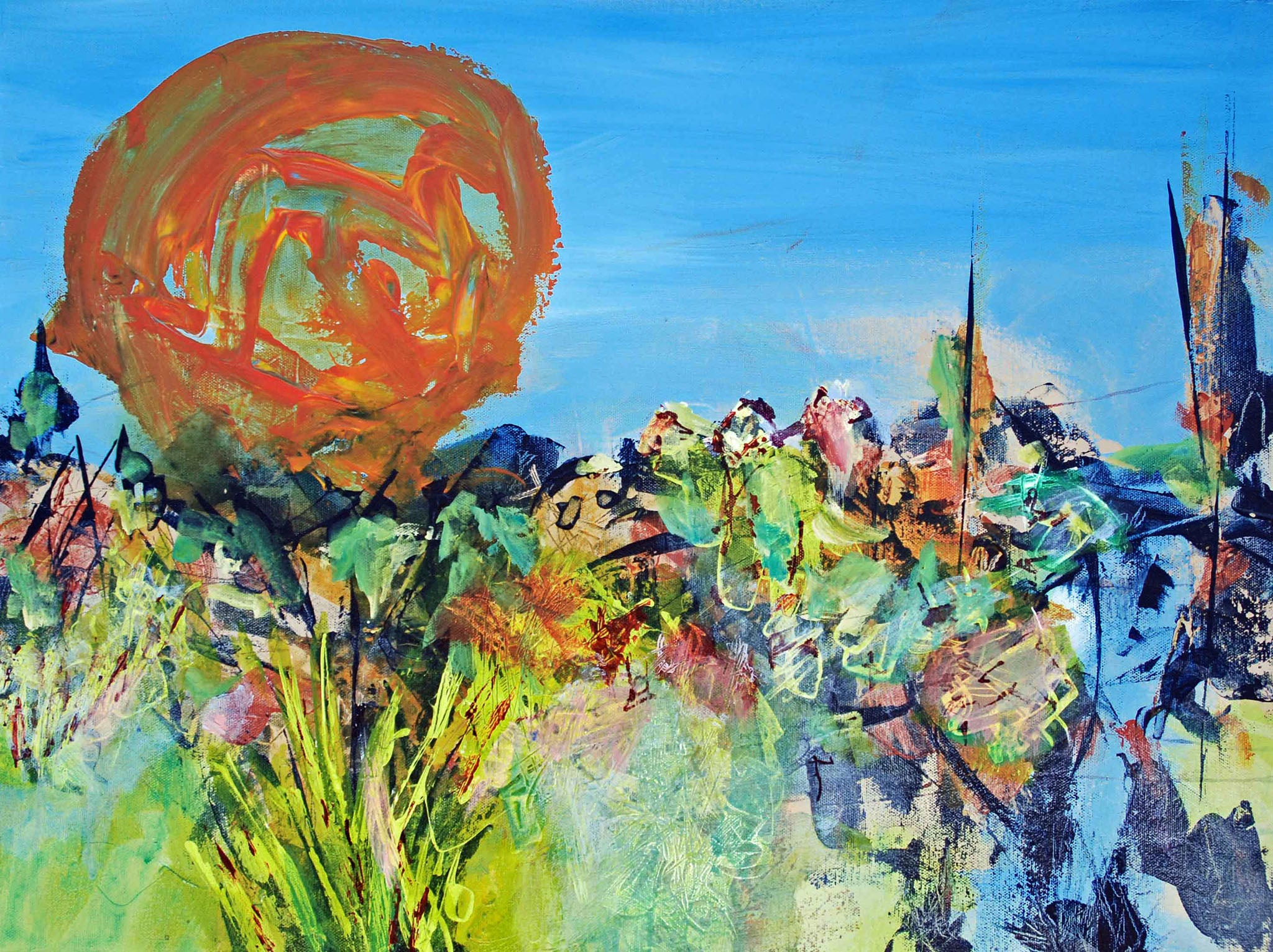 South -- Acrylic painting by Nard Claar