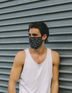 Premium Protective Fabric Face Covering Mask:  Barbed Wire