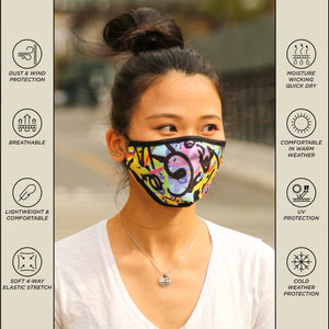 Premium Protective Fabric Face Covering Mask: Basqui