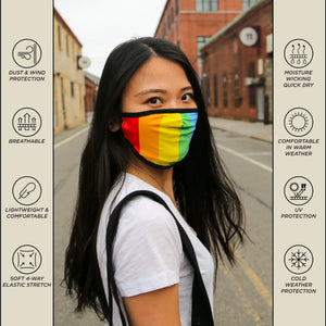 Premium Protective Fabric Face Covering Mask: Pride