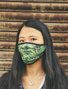 Premium Protective Fabric Face Covering Mask: Weed