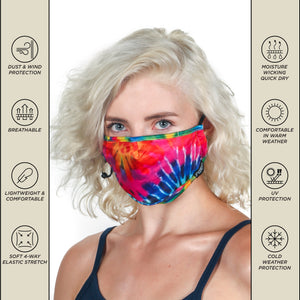 Premium Protective Fabric Face Covering Mask: Tye Dye