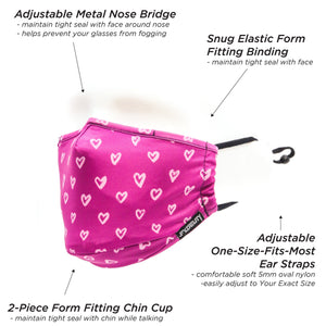 Premium Protective Fabric Face Cover- I Heart