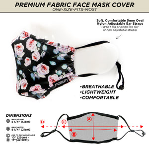 Premium Protective Fabric Face Cover- Pink Rose
