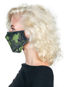 Premium Fabric Face Covering Mask | GREEN CAMO