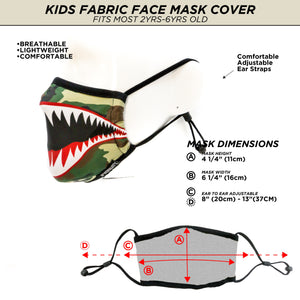 Premium Fabric Face Covering Mask | KIDS | Flying Tiger Camo (BACK ORDERED)