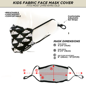 Premium Fabric Face Covering Mask | KIDS | Black Cloud