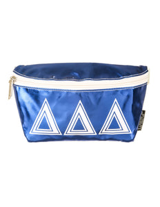 Ultra-Slim Fanny Pack: GREEK Sorority Licensed Delta Delta Delta Metallic Royal Blue