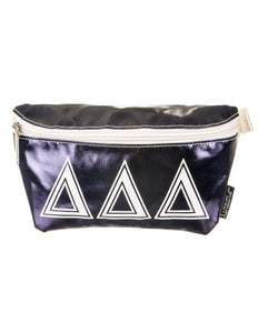 Fydelity- Ultra-Slim Fanny Pack: GREEK Delta Delta Delta Navy Blue