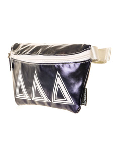 Ultra-Slim Fanny Pack: GREEK Sorority Licensed Delta Delta Delta Navy Blue