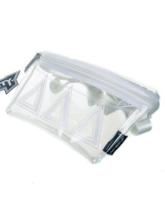 Ultra-Slim Fanny Pack: GREEK Sorority Licensed Delta Delta Delta Crystal Clear