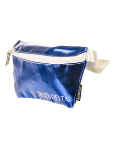 Ultra-Slim Fanny Pack: GREEK Sorority Licensed Tri-Delta Metallic Royal Blue