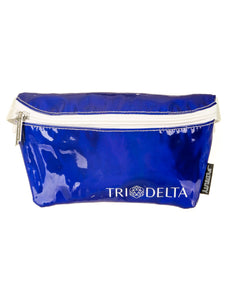 Fydelity- Ultra-Slim Fanny Pack: GREEK Tri-Delta DAZZLER Blue