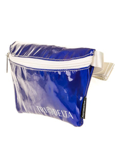 Ultra-Slim Fanny Pack: GREEK Sorority Licensed Tri-Delta DAZZLER Blue