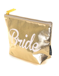 FYDELITY- Zip Pouch:  BRIDE  Metallic Gold