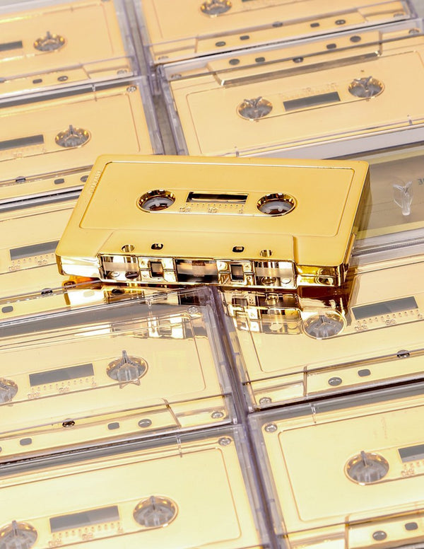 IMIXID 60 Minute Blank Cassette Tape(10-Pack)- Gold Chrome