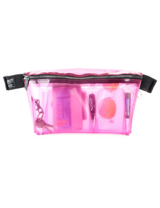 FYDELITY- XL Ultra-Slim Fanny Pack: CRYSTAL Pink