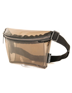 FYDELITY- Ultra-Slim Fanny Pack: CRYSTAL Smoke