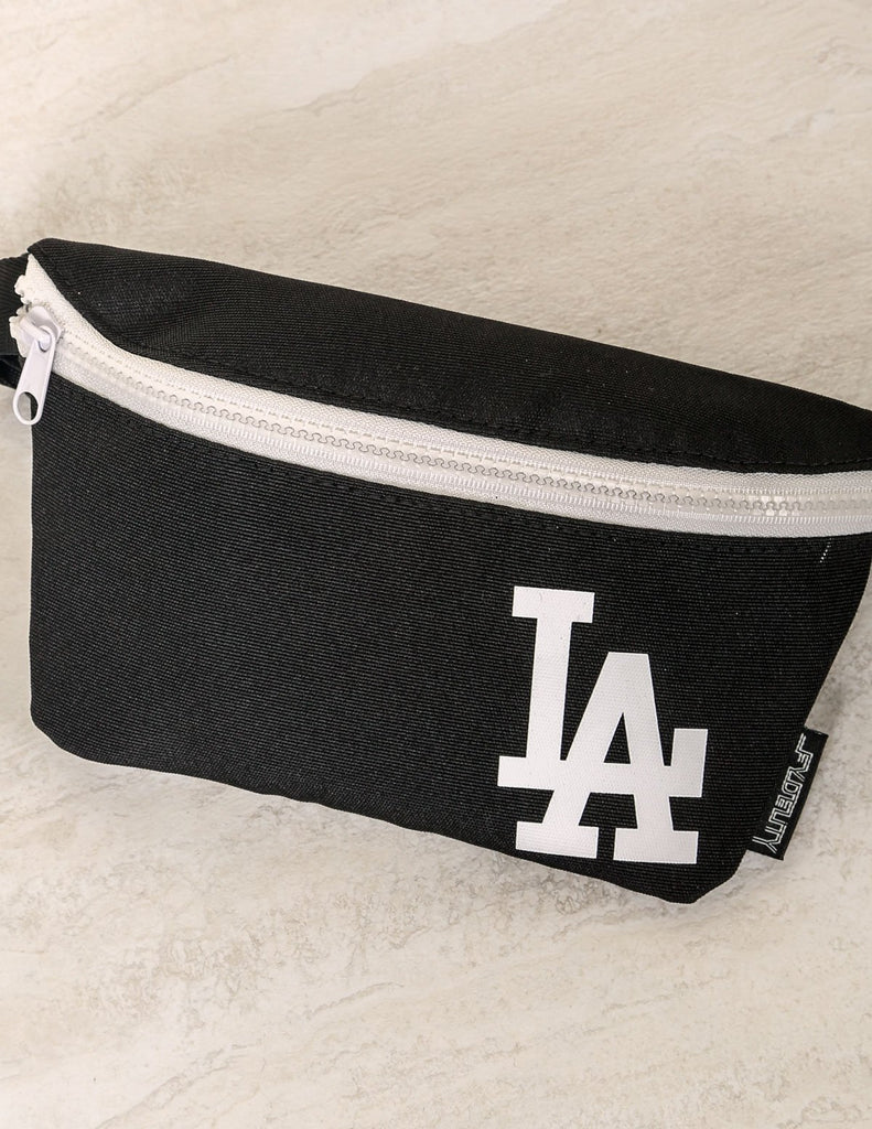 83006: Ultra-Slim Fanny Pack: WERDS LA |Black & White - Fydelity