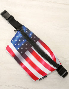 FYDELITY- Ultra-Slim Fanny Pack: FLAGS USA
