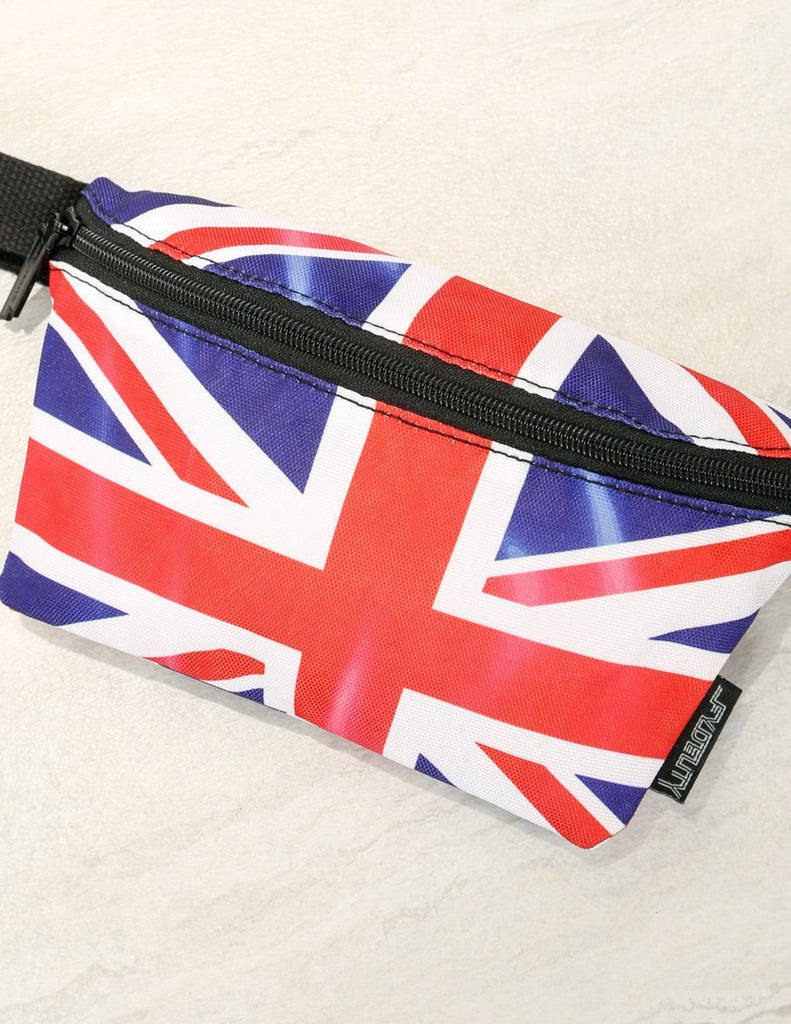 83042: Ultra-Slim Fanny Pack: FLAGS UK - Fydelity