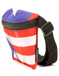 FYDELITY- Ultra-Slim Fanny Pack: FLAGS Puerto Rico