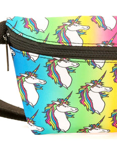 FYDELITY- Ultra-Slim Fanny Pack: UNICORN