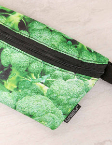 FYDELITY- Ultra-Slim Fanny Pack: Broccoli