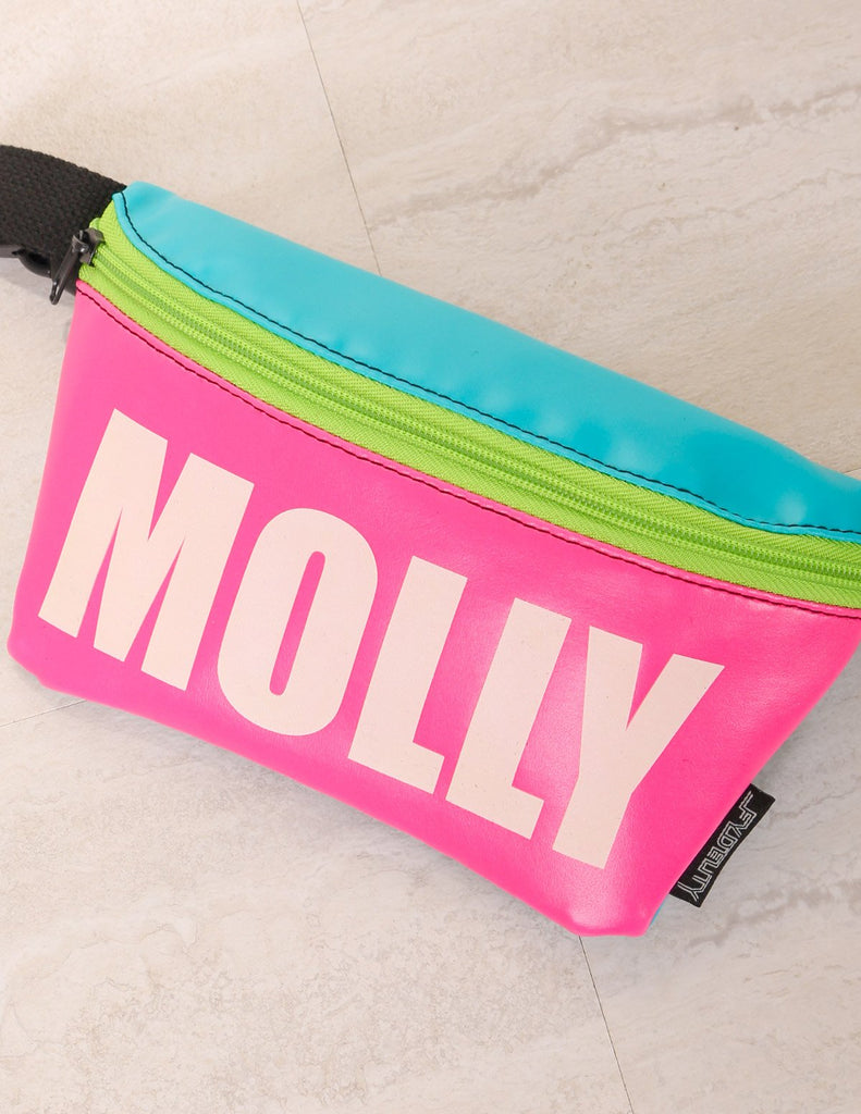 FYDELITY- Ultra-Slim Fanny Pack: WERDS Glow in the Dark MOLLY