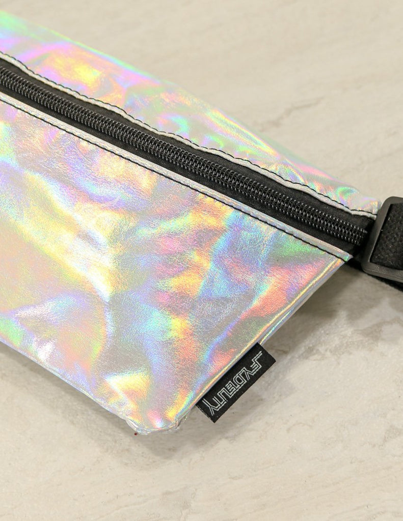 FYDELITY- Ultra-Slim Fanny Pack: INTERPLANETARY Silver Moonraker