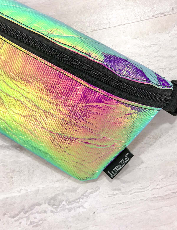FYDELITY- Ultra-Slim Fanny Pack: INTERPLANETARY Aura Spectral