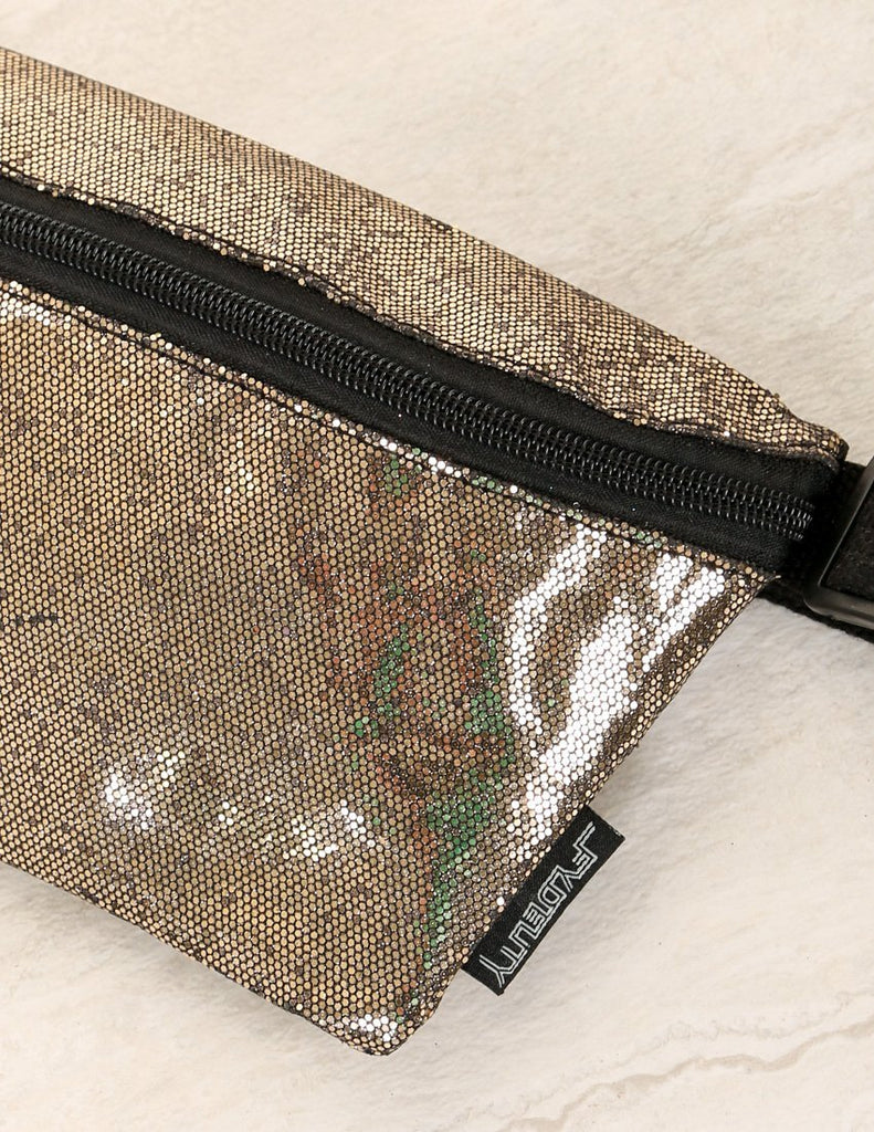 FYDELITY- Ultra-Slim Fanny Pack: GLAM Bronze