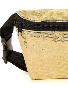 FYDELITY- Ultra-Slim Fanny Pack: GLAM Gold