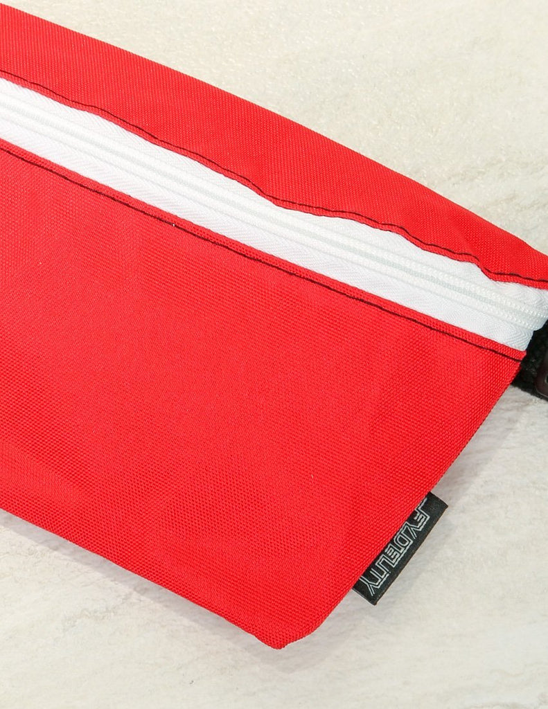 83271: Ultra-Slim Fanny Pack: GAME DAY Red & White - Fydelity