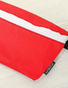 FYDELITY- Ultra-Slim Fanny Pack: GAME DAY Red & White
