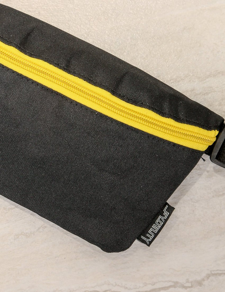 FYDELITY- Ultra-Slim Fanny Pack: GAME DAY Black & Yellow