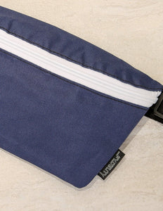 FYDELITY- Ultra-Slim Fanny Pack: GAME DAY Blue & White