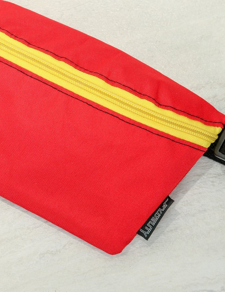 FYDELITY- Ultra-Slim Fanny Pack: GAME DAY Red & Yellow