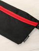 FYDELITY- Ultra-Slim Fanny Pack: GAME DAY Black & Red