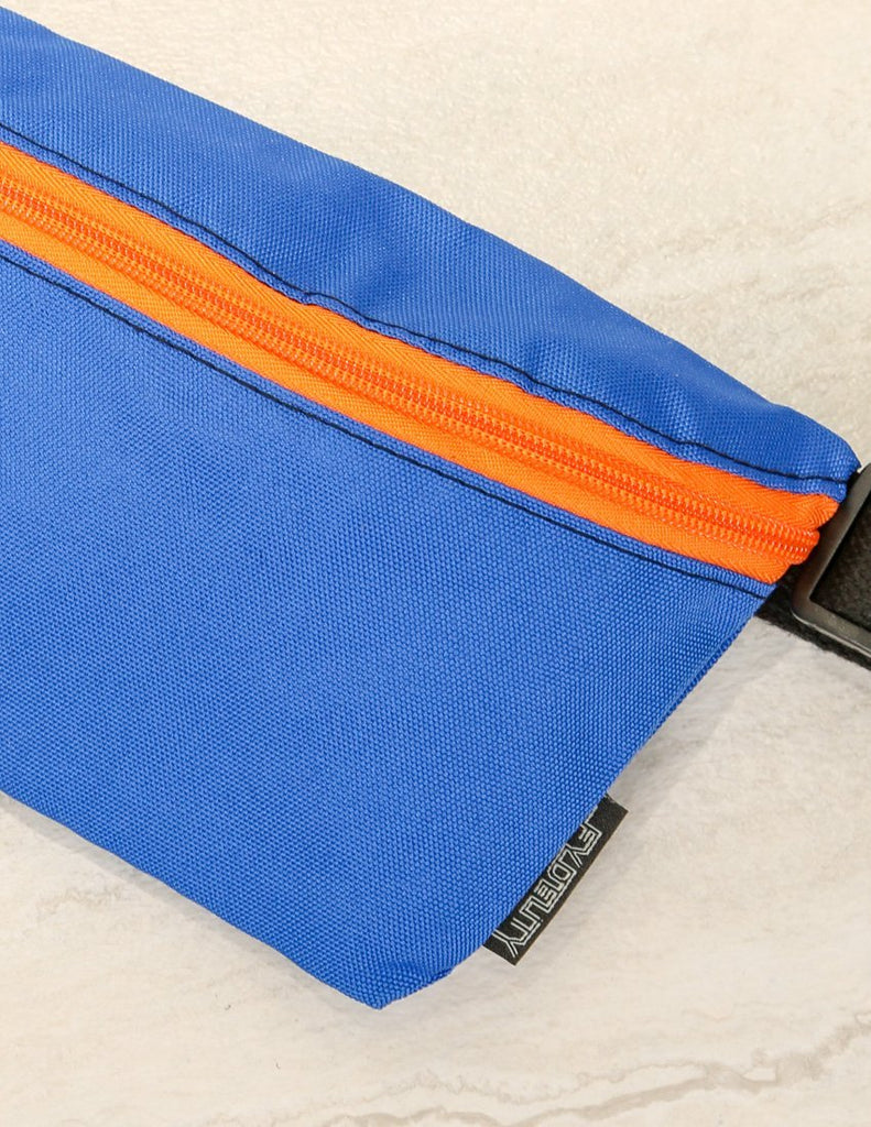83280: Ultra-Slim Fanny Pack: GAME DAY Blue & Orange