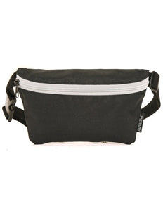 FYDELITY- Ultra-Slim Fanny Pack: GAME DAY Black & White