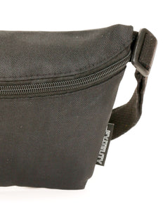 FYDELITY- Ultra-Slim Fanny Pack: GAME DAY Black & Black