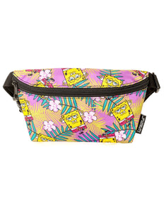 FYDELITY- Ultra-Slim Fanny Pack: NICK Spongebob Purple Hawaii