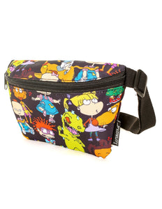 FYDELITY- Ultra-Slim Fanny Pack: NICK Rugrats Black