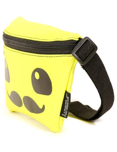 FYDELITY- Ultra-Slim Fanny Pack: FRIENDS MOUSTACHE