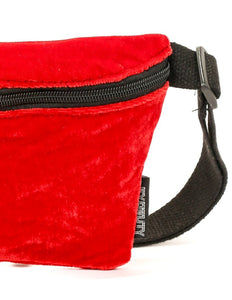 FYDELITY- Ultra-Slim Fanny Pack: VELVET RED