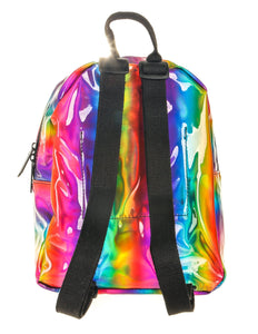 FYDELITY- Mini Backpack:  METALLIC  Rainbow