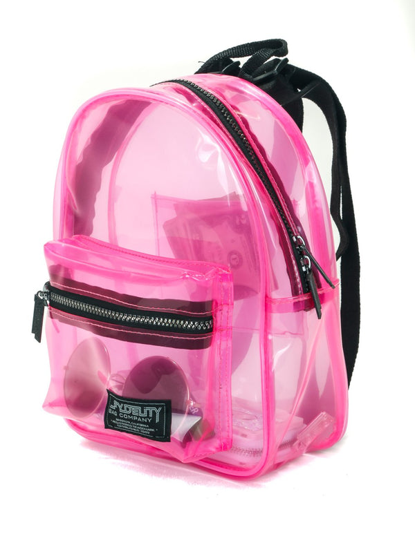 FYDELITY- Mini Backpack:  CRYSTAL  Pink - Fydelity