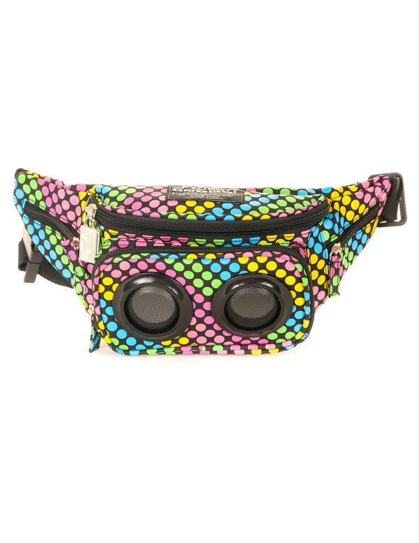 FYDELITY- FI-HI Bluetooth Speaker Bum Bag - Neon Dots - Fydelity